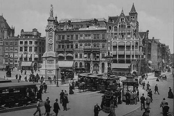 Улицы Амстердама в XIX веке