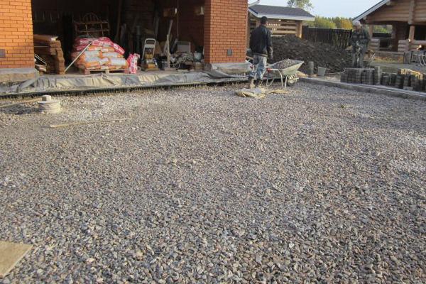 Какой щебень нужен для укладки тротуарной плитки?