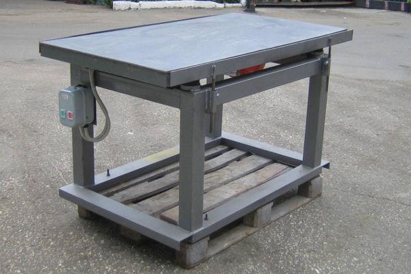 Вибростол для производства тротуарной плитки